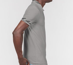 Hype Jeans Company Men's Slim Fit Short Sleeve Grey Polo