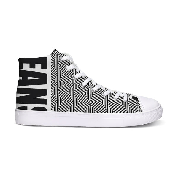 Hype Jeans Mosaic sneakers 2 Hightop Canvas Shoe