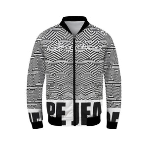 Hype Jeans Black / White Mosaic Men's Bomber Jacket - Hype Jeans Company - Hype Jeans
