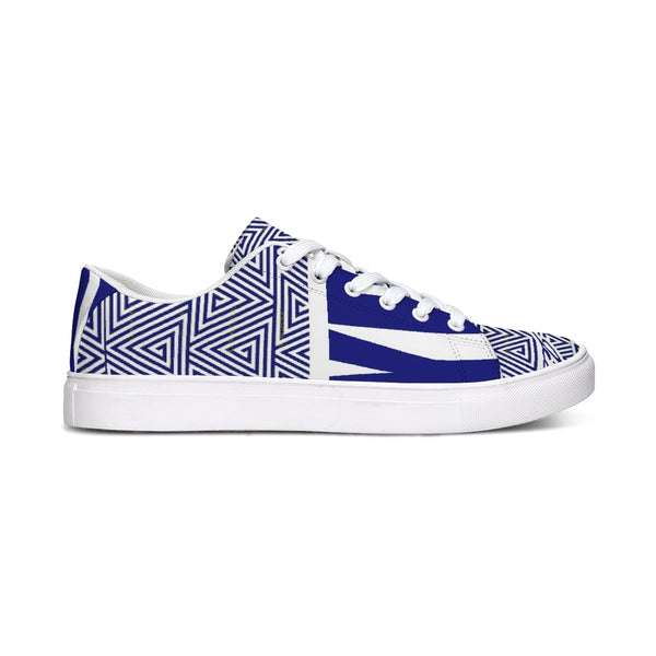 Hype Jeans Mosaic Sneaker 2  Low Cut Navy Blue / white