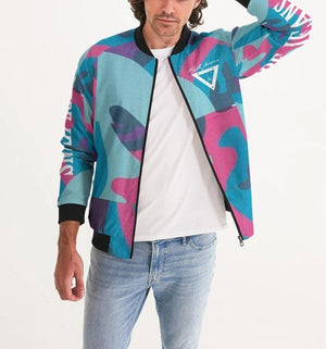 Hype Jeans Fade Camo blue/ pink Men's Bomber Jacket - Hype Jeans Company - Hype Jeans