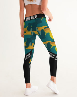 Hype Jeans Company - Forest fall fade camo Women's Yoga Pants