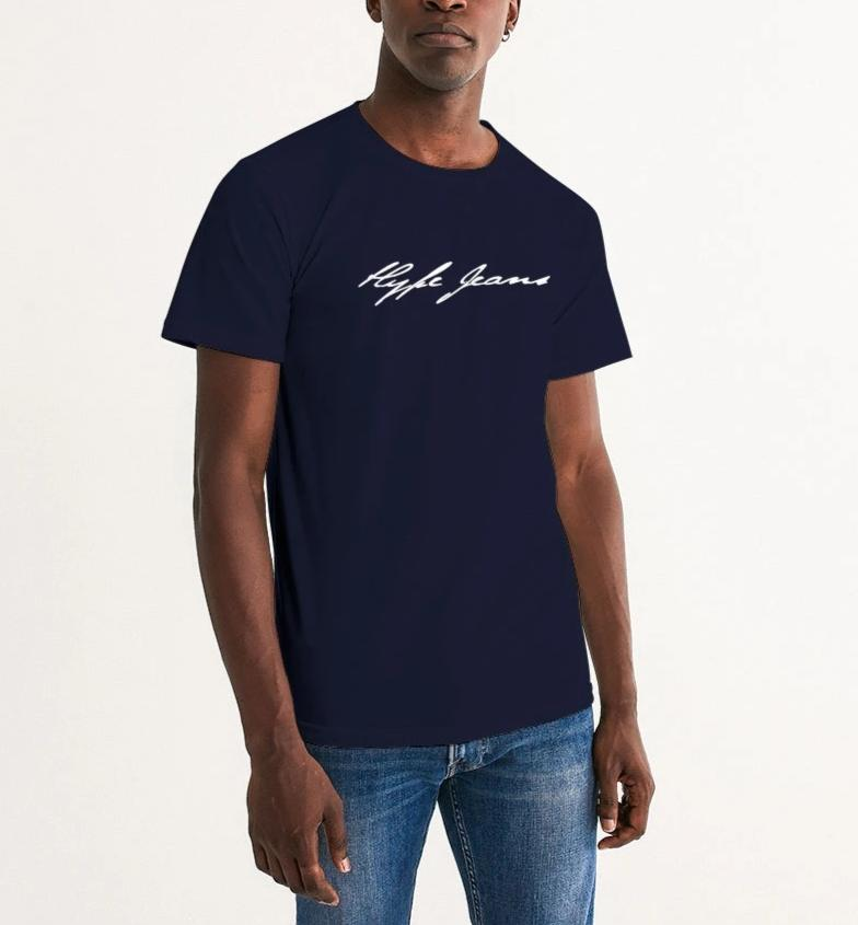 HJ signature Men's Graphic Tee (Navy) - Hype Jeans Company - Hype Jeans
