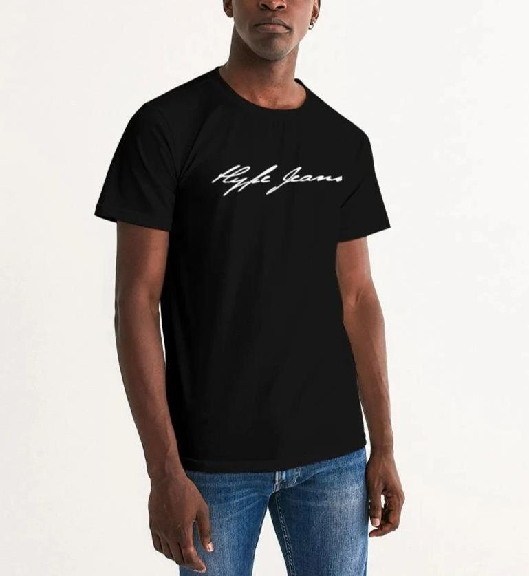 HJ signature Men's Graphic Tee (Black/White) - Hype Jeans Company - Hype Jeans