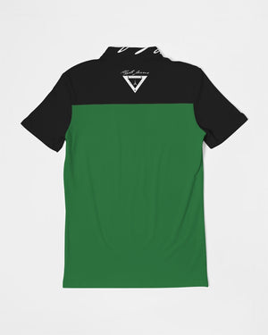 Hype Jeans Company Green / Black Men's Slim Fit Short Sleeve Polo