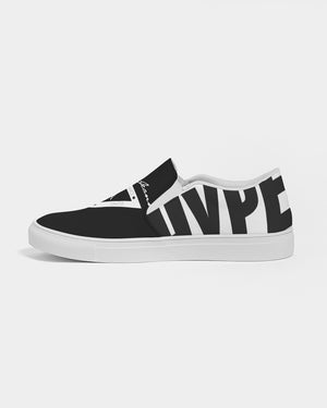 Hype Jeans Company Men's Slip-On Canvas Shoe ( Black / white )
