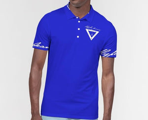 Hype Jeans Company Men's Slim Fit Short Sleeve Blue Polo