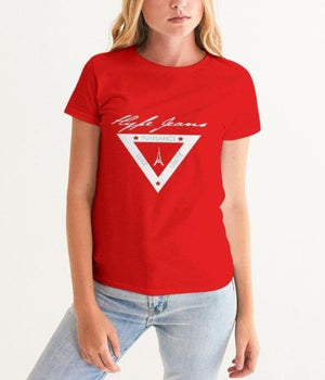 HJ white shield logo Women's Graphic Tee - Hype Jeans Company - Hype Jeans
