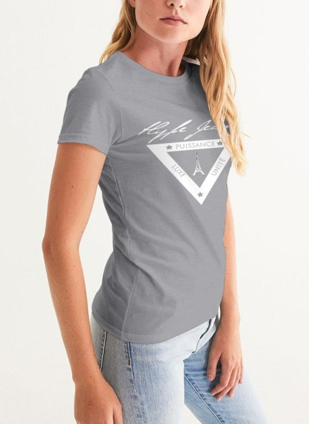 Hype Jeans  white shield logo Women's Graphic Tee