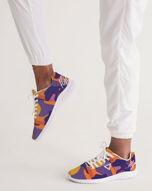 Hype Jeans Fade Camo Purple / Yellow Women's Athletic Shoe - Hype Jeans Company - Hype Jeans