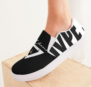Hype Jeans Company  Women's Slip-On Canvas Shoe ( Black / white )