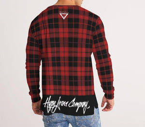 Hype Jeans Company Plaid Men's Long Sleeve Tee