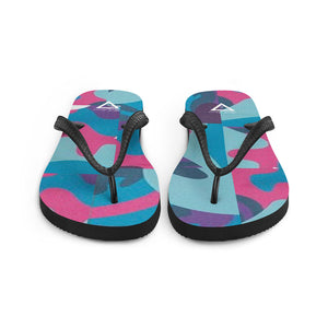 Hype Jeans  Camo Blue / Pink Flip-Flops - Hype Jeans Company - Hype Jeans