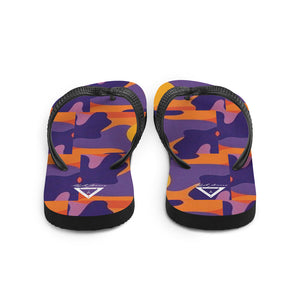 Hype Jeans fade camo Purple / yellow Flip-Flops - Hype Jeans Company - Hype Jeans