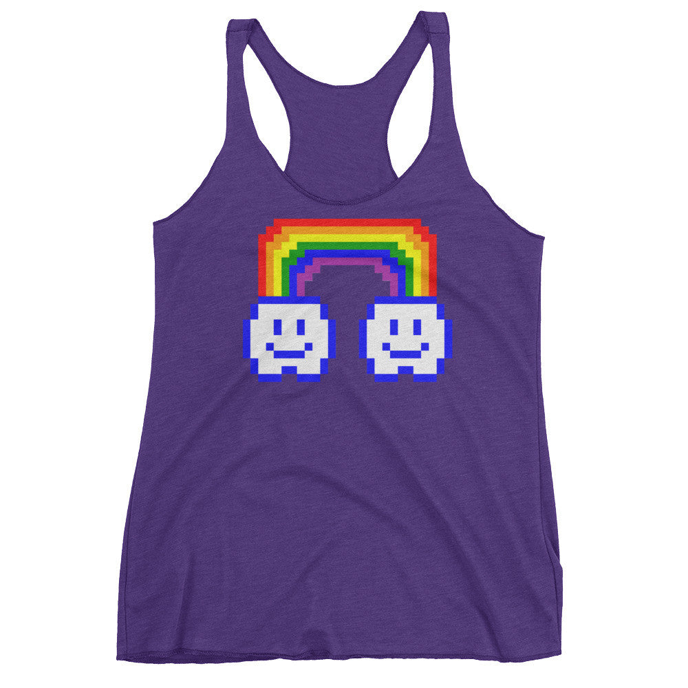 8 Bit® Rainbow Clouds Women's Tank Top