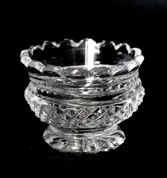 Diamond Cut Footed Bowl