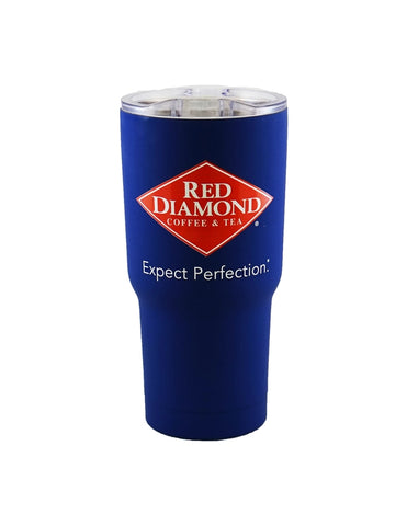 Blue Red Diamond Soft Touch Hot and Cold Tumbler