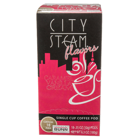 City Steam® Caramel Vanilla Cream Coffee Pods 18 ct