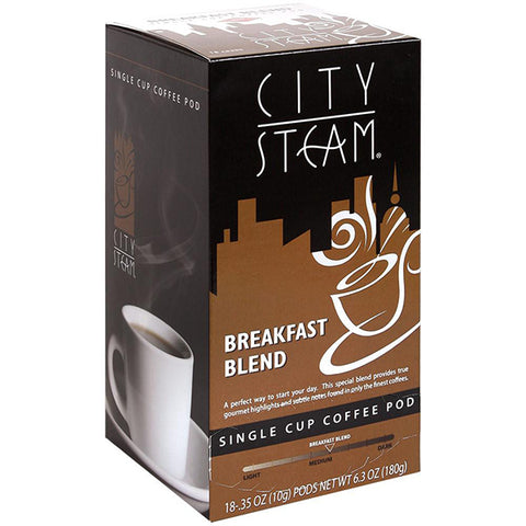City Steam® Breakfast Blend Coffee Pods 18 ct