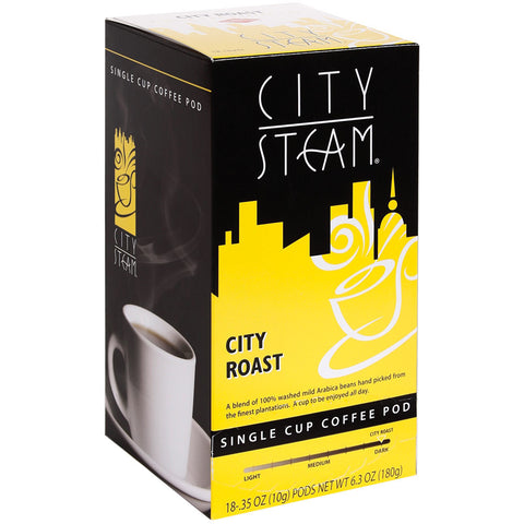 City Steam City Roast Coffee Pods 18 ct