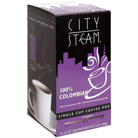 City Steam Colombian Coffee Pods 18 ct