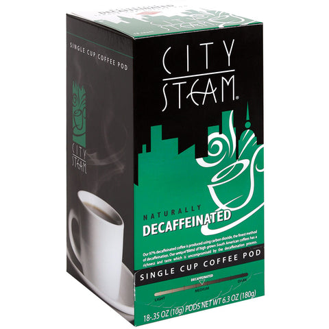 City Steam Decaffeinated Coffee Pods 18 ct