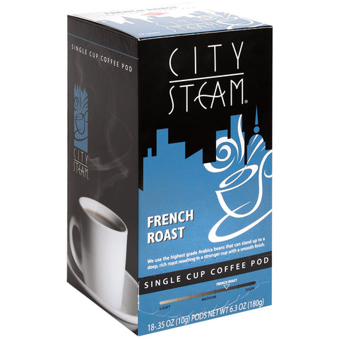 City Steam French Roast Coffee Pods 18 ct