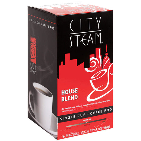 City Steam House Blend Coffee Pods 18 ct