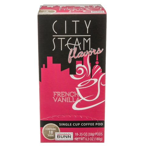City Steam® French Vanilla Coffee Pods 18 ct