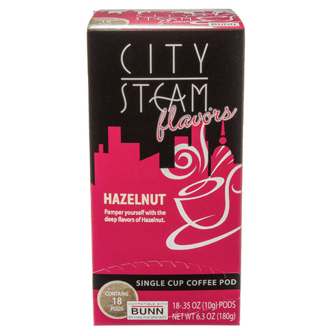 City Steam® Hazelnut Coffee Pods 18 ct