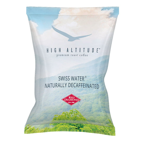High Altitude Swiss Water Naturally Decaffeinated 3 oz. Portion Pack Coffee 42 count