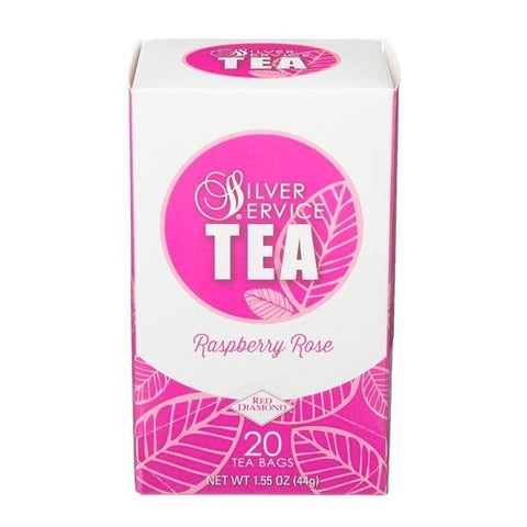 Naturally Healthy Silver Service Raspberry Rose Hot Tea Bags