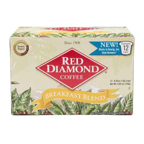Red Diamond Breakfast Blend Single Serve Coffee 12 ct