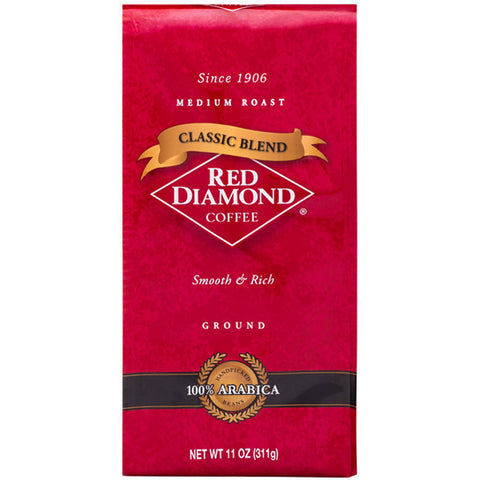 Red Diamond Classic Blend Ground Coffee 11 oz Bags