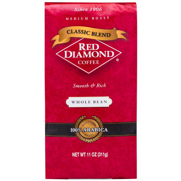 Coffee Beans Online >> Red Diamond Classic Blend Whole Bean Coffee 11 Oz