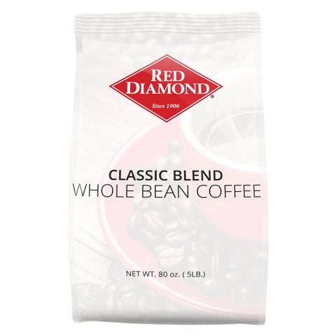 Red Diamond Classic Blend Whole Bean Coffee 5 lb