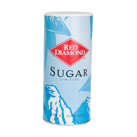 Red Diamond 20 oz Premium Sugar Canister