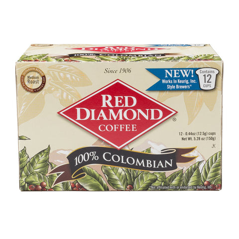 Red Diamond Colombian Single Serve K-cup Coffee 12 ct