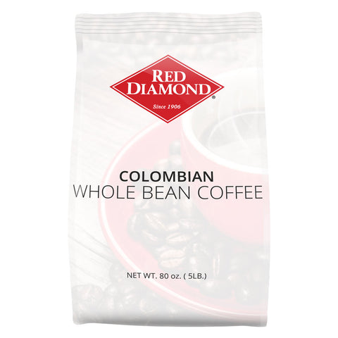 Red Diamond Colombian Whole Bean Coffee 5 lb
