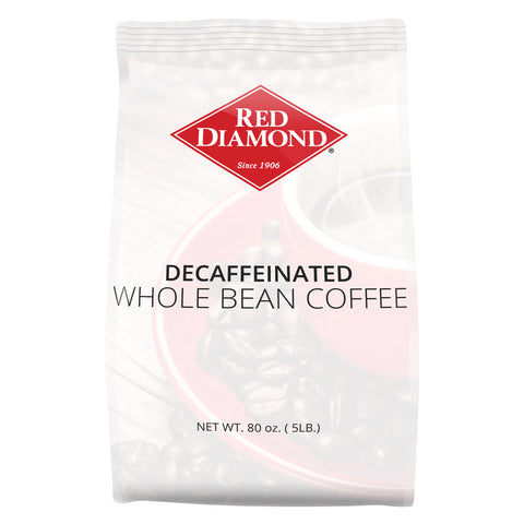 Red Diamond Decaffeinated Whole Bean Coffee 5 lb