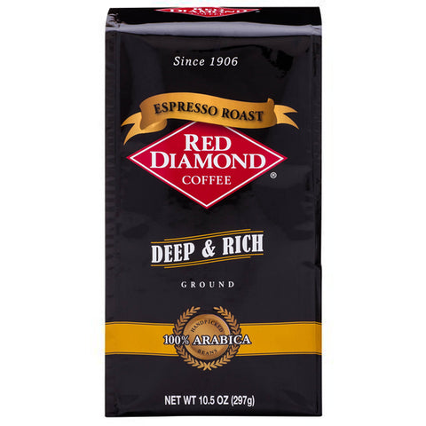 Red Diamond Espresso Roast Ground Coffee 10.5 oz