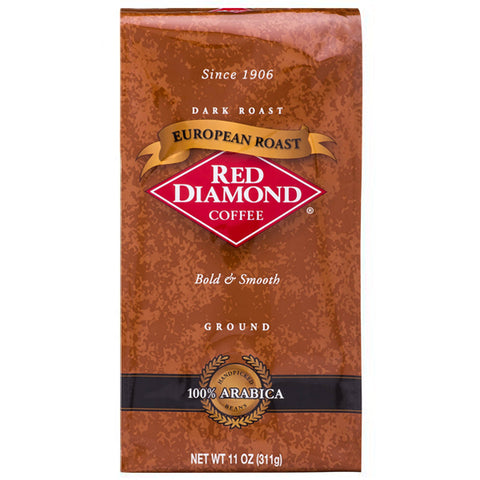Red Diamond European Roast Ground Coffee 11 oz
