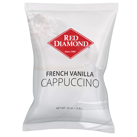 Red Diamond French Vanilla Cappuccino Mix 2 lb (Pack of 6)
