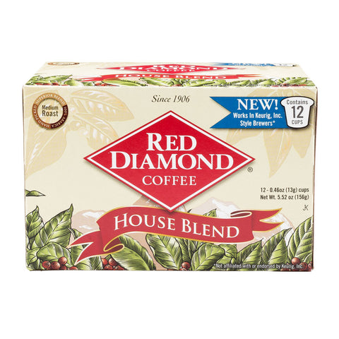 Red Diamond House Blend Single Serve Coffee 12 ct