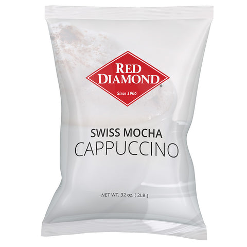 Red Diamond Swiss Mocha Cappuccino Mix 2 lb (Pack of 6)