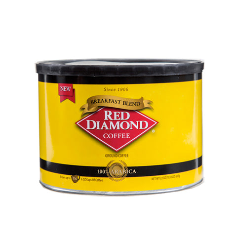 Red Diamond Breakfast Blend Ground Coffee 22 oz