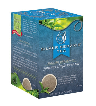Silver Service English Breakfast Tea Pods 24 ct