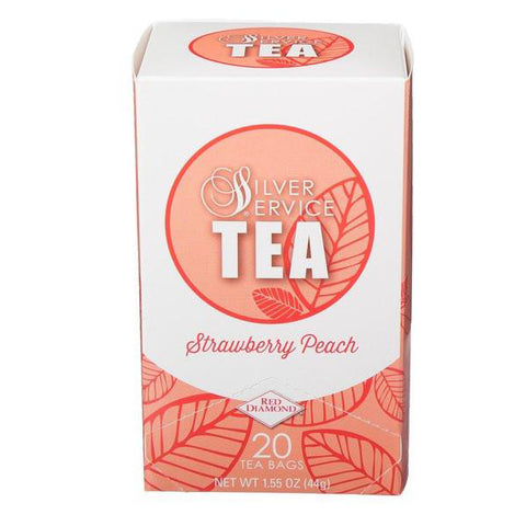 Naturally Healthy Silver Service Strawberry Peach Hot Tea Bags