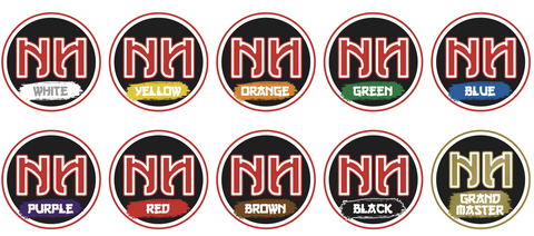 Ninja Belt Reward Stickers- Individual Belt Colour Packs (70 stickers)