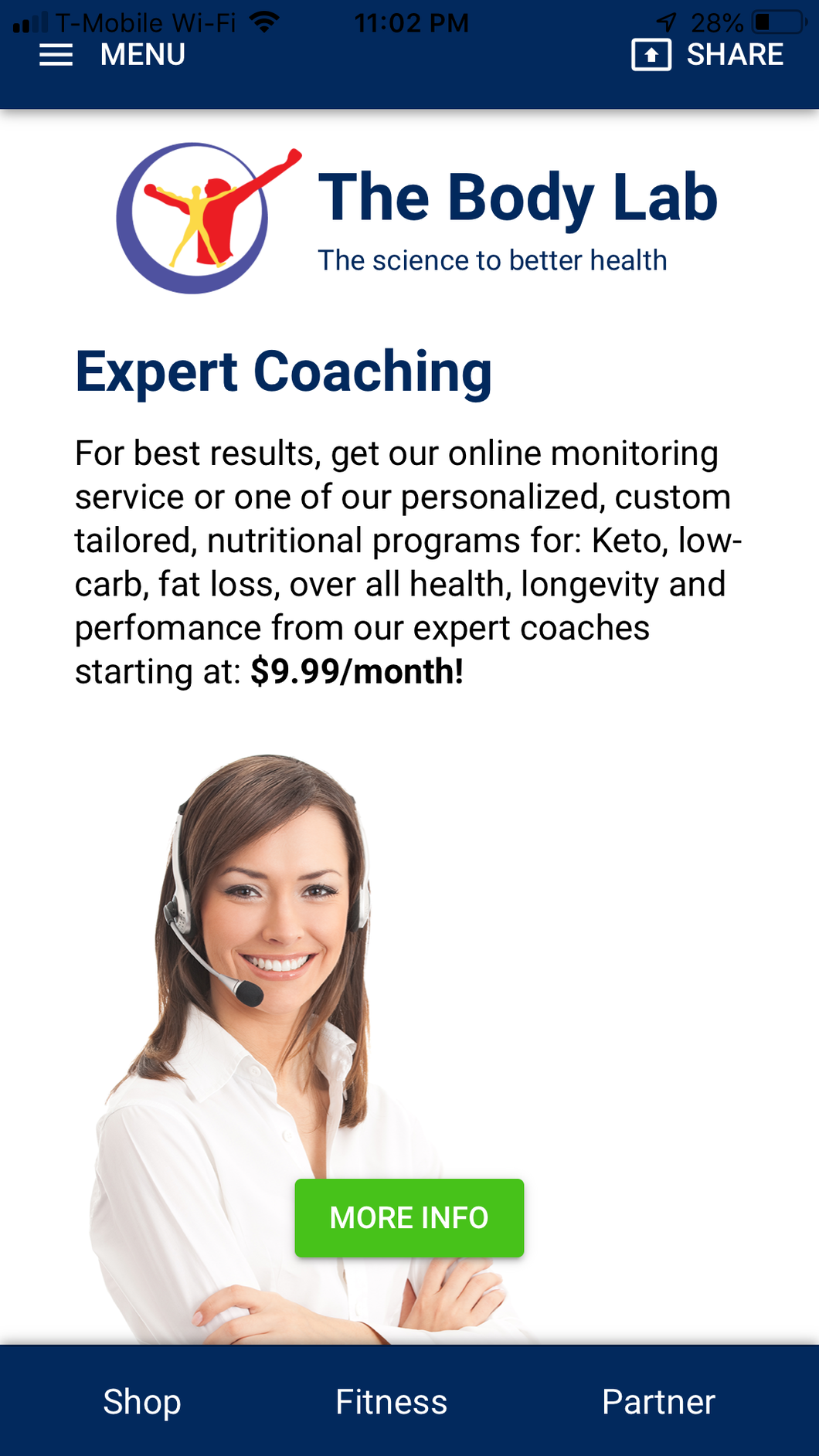 The Body Lab Monitoring Service